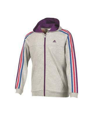 Adidas Young Girls Grey Essential Full Zip Hoodie Hoody Size 18-24mth