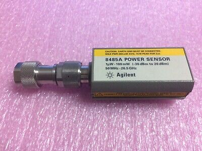 Agilent HP 8485A Power Sensor, 50 MHz to 26.5 GHz, -30 to +20 dBm w/ 3.5mm adapt