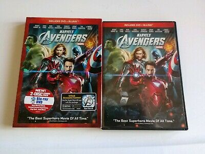 Marvel's The Avengers (2012) - DVD+ BLURAY 2-Disc set Mint Conditions