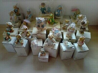 Cherished Teddies Collection of 24 Bears All Boxed Mostly With Certificates