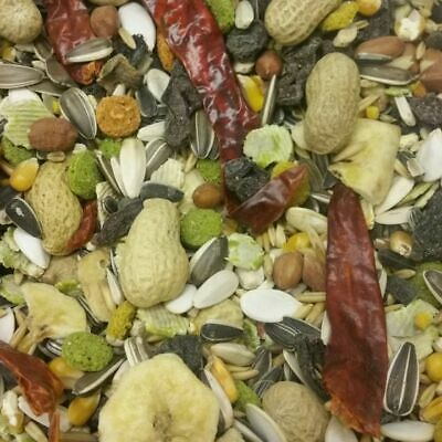 Tropical Seed & Fruit Mix Parrot Bird Food Seed Diet - 400g,800g,1.2kg,1.8kg