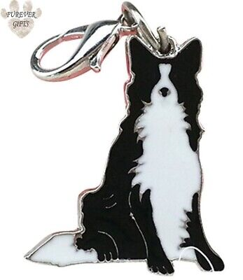Border Collie Dog Keyring Keychain Bag Charm Quality Gift Gift wrapped Free P&P