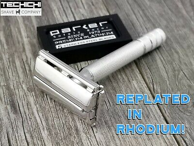 Y2 1953 Gillette 40s Style Super Speed Replated in Rhodium Safety Razor