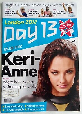 DAY 13 EVENTS GUIDE - Collectible London 2012 Team GB Olympic Games Memorabilia