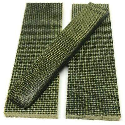 "Burlap Micarta- Evergreen color- Shadetree Composites- 1/4"" x 1.5"" x 5"" Scales"