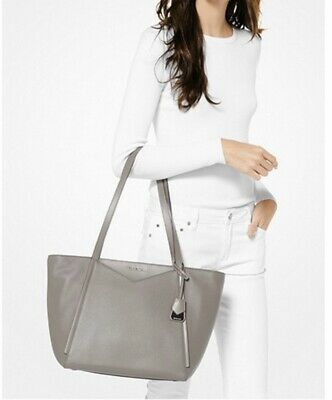 b579c5f9e4327 Authentic Michael Kors Whitney Small Pebbled Leather Tote Pearl Grey MSRP  $248