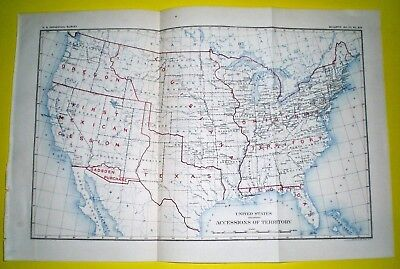 1900 UNITED STATES Map Texas Annexed Louisiana Purchase ... on alaska map, columbia river map, hawaii map, compromise of 1850 map, charleston map, magdalena de kino map, treaty of 1818 map, louisville purchase map, stephen austin map, mormon trail on a usa map, gadson purchase map, fort sumter map, texas annexation map, convention of 1818 map, great plains map, oregon country map, san francisco map, 13 colonies map, oregon territory map, republic of texas map,