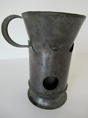Antique tinware cider warmer - early 19th century