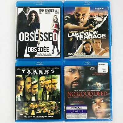 Lot of Stalker Blu-Ray Movies: Obsessed, No Good Deed, Lakeview Terrace, Takers