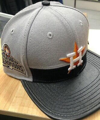 online store 4694b b4bb2 Pro Standard Houston Astros MLB Leather Strapback Gray Hat  17 Champs NWT