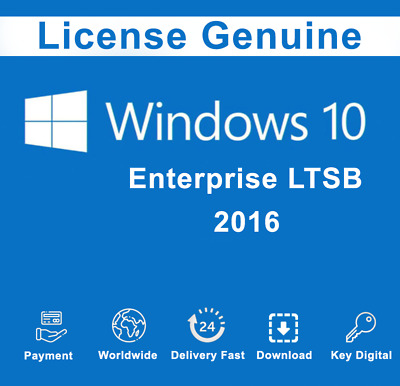 Win10 Enterprise LTSB 2016 Product License Key Activation Code Full Code