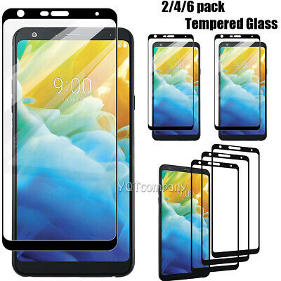 2-Pack Full Coverage Premium Tempered Glass Screen Protector For LG Stylo 4 Plus