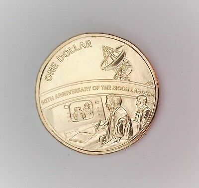 2019 50th Anniversary of the Moon Landing $1 Coin - From Mint Set