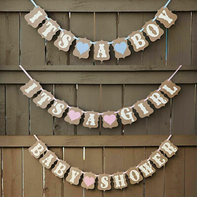 Baby Shower Its a Boy Its a Girl Banner Party Decorations Hanging Bunting Reveal