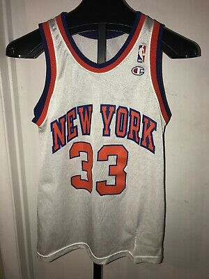 1678bb3a VINTAGE CHAMPION NBA JERSEY NEW YORK KNICKS PATRICK EWING #33 size S defect