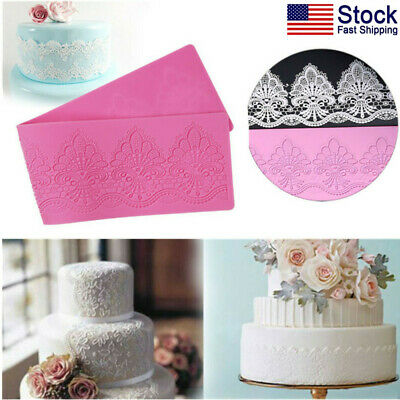 US Lace Floral Pattern Silicone Mould Mat for Cake Decorating DIY Baking Mold