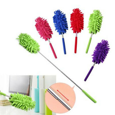 Feather Cleaning Duster Long Telescopic Static Bendable Tool Extendable Handle@
