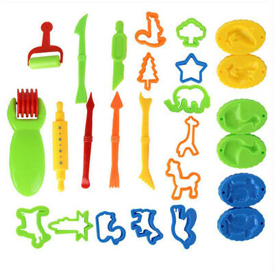 26 Pcs Kids Dough Tools Set Play Clay Molds Educational Cutting Crafts Xmas Gift