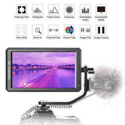 """Feelworld F6 HDMI Field Video Monitor 4K Full HD 5.7"""" for DSLR Gimbal Stabilizer"""