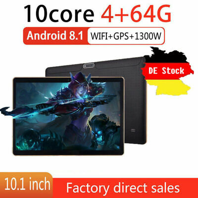 10.1 pollici Tablet Android8.1 Bluetooth PC 4 + 64G ROM 2SIM GPS Phone Pad IPS