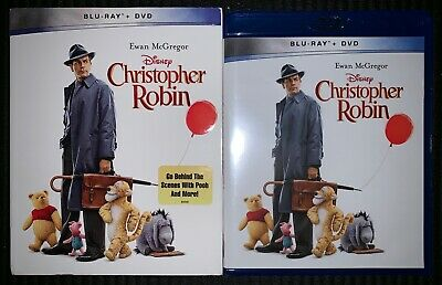 New Disney Christopher Robin Blu Ray Dvd 2 Disc Set Walmart Exclusive+ Slipcover