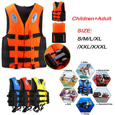 Adult Kids Life Jacket Kayak Ski Buoyancy Aid Vest Sailing Fishing Watersport UK