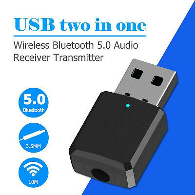 2 IN 1 Wireless Bluetooth Trasmettitore Ricevitore 3.5MM TV PC Audio Adattatore