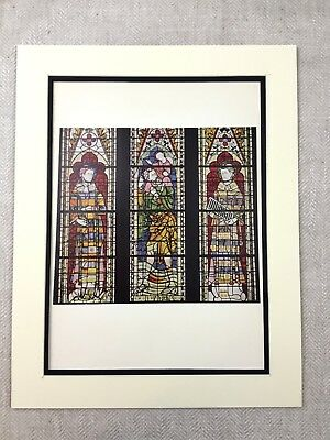Medieval Stained Glass Window York Minster Architecture Antique Colour Print