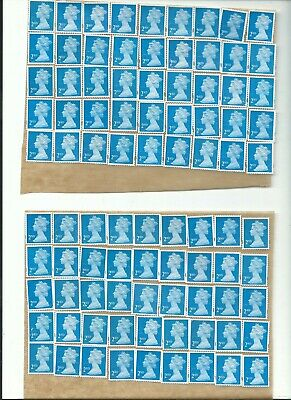 Great Britain. = 2Nd Class Stamps Unfranked X 100 On Peel Off Backing !!!