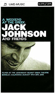 Jack Johnson : A Week End At The Greek - UMD MUSIC PSP - NEUF SOUS BLISTER