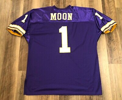 d063bfec5f6 Warren Moon #1 Vikings Mitchell and Ness Throwbacks 1994 NFL Jersey Size 56  SEWN