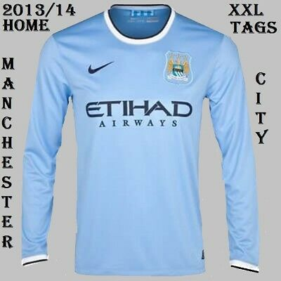 Manchester City 2012/14 Long Sleeve Home Shirt Xxl Tags/Packet