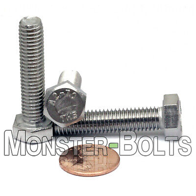 M8-1.25 x 55mm  Stainless Steel Hex Cap Bolt / Screw, Coarse DIN 933 A2 18-8
