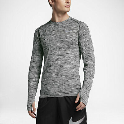 3c9e421ab MEN'S NIKE DRI-FIT LONG SLEEVE L/S KNIT RUNNING SHIRT 833565 010 ...