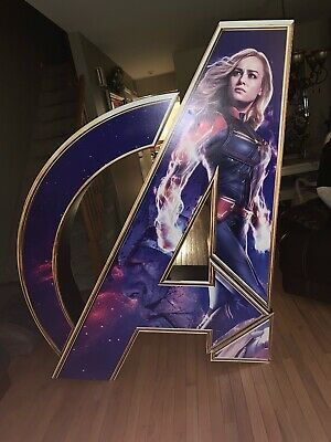 Avengers End Game Letter A Movie Display Poster With Captain Marvel And Thanos