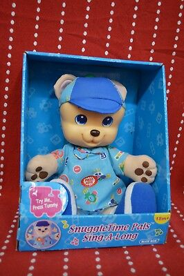 NEW Musical SNUGGLE Time PALS Bear Blue BOX Sing A Long Battery 18m+ Music Soft