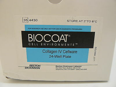 Becton Dickinson Biocoat 354430 Collagen Iv Cellware 24-Well Plate (4 Pack) New