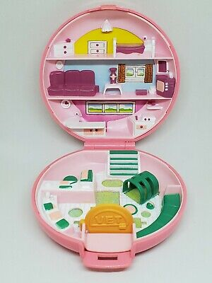 Vintage Polly Pocket Button's Animal Hospital Compact Only 1989 Bluebird Vet