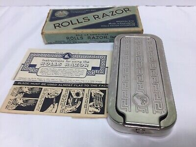 Antique Rolls Razor Imperial No. 2 Made in England Nickel Plated