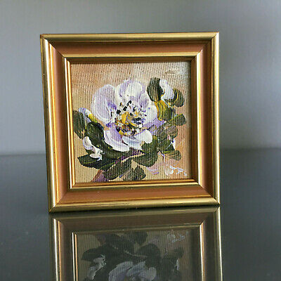Scandinavian Impressionism Flowers Framed Finnish Original Oil Painting Signed