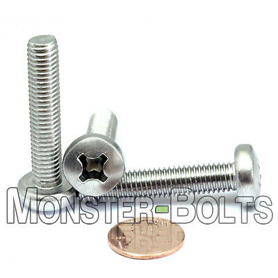 M8-1.25 x 40mm  Stainless Steel Phillips Pan Head Machine Screws  DIN 7985A