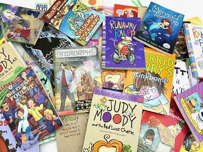 Lot of 10 chapter books RANDOM Children's Youth Readers Homeschool Middle School