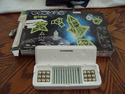 Glow 22 Piece Geomag Building Construction Toy Glow In THe Dark w//panels #334