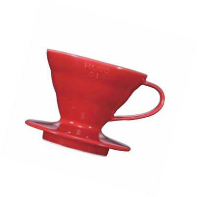 Hario VD-01R 1-Piece Plastic Coffee Dripper, Red