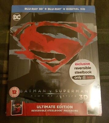 Batman vs Superman Dawn of Justice HMV exclusive 3D Blu Ray Steelbook
