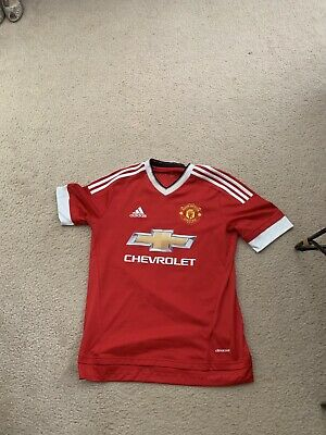 Wayne Rooney Signed Jersey Manchester Adidas Red Size XL