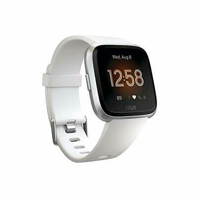 Fitbit FB415SRWT Versa Smart Watch, One Size (S & L Bands Included)