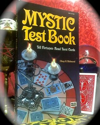 MYSTIC TEST BOOK ~ SCARCE SC REPRINT 1980 (ORIG c1890) ~ CARTOMANCY TAROT OCCULT