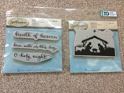 SPELLBINDERS 3D Shading Cling Stamp SENTIMENTS 111 SBS-057 O Holy Night UNTO US