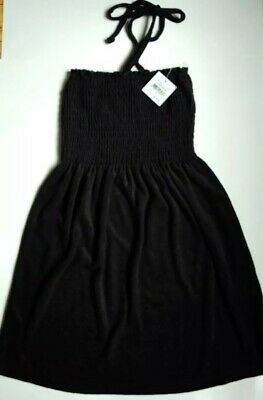 e4e005e332fe9 Juicy Couture Terry Smocked Dress Swim Cover Up Black Small or White XSmall  $118